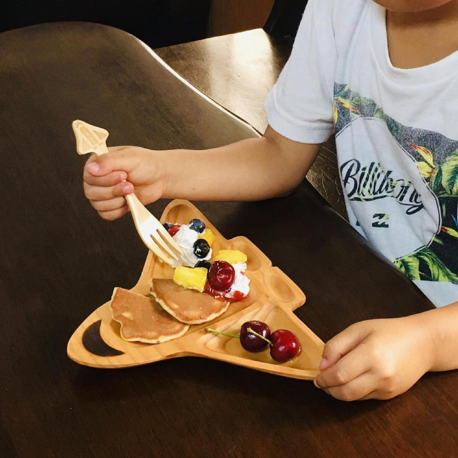 Kids Wooden Plate - Spaceship
