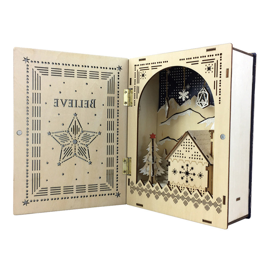 Believe Wooden LED Book Believe