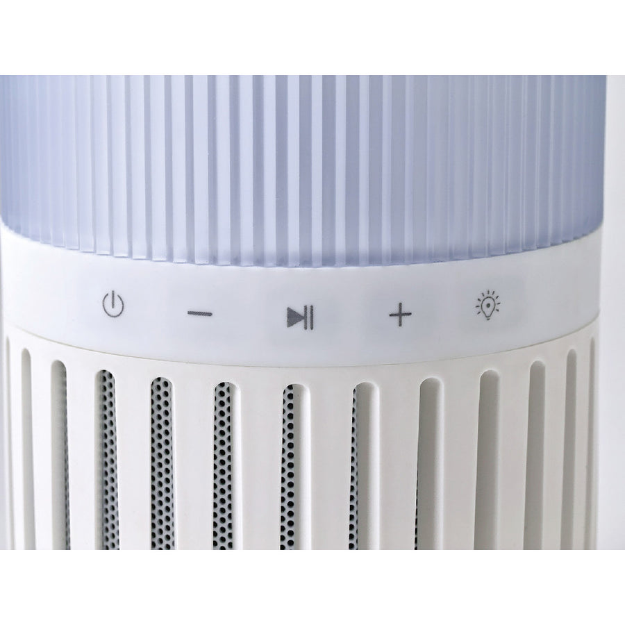 Bluetooth Speaker with USB Charger and Lighting - White