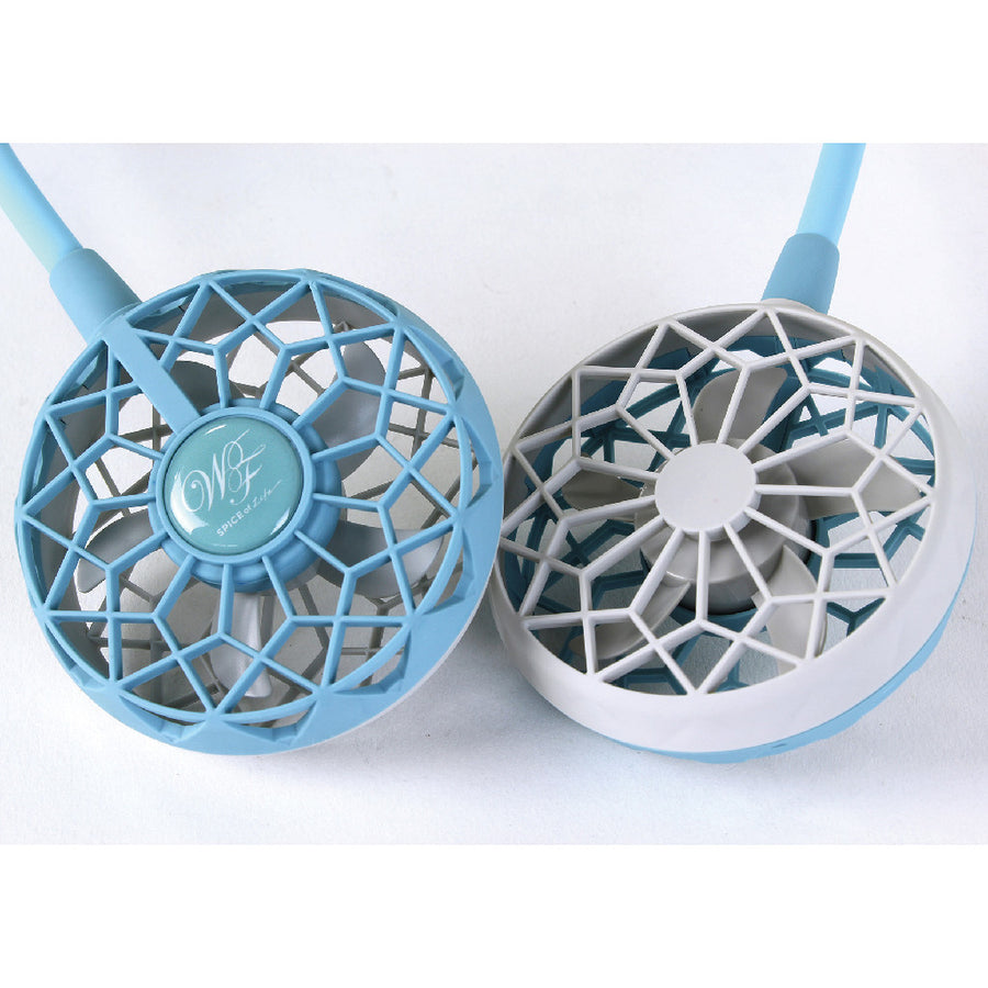 Hands-Free Wireless W Fan 2nd Edition - Light Blue