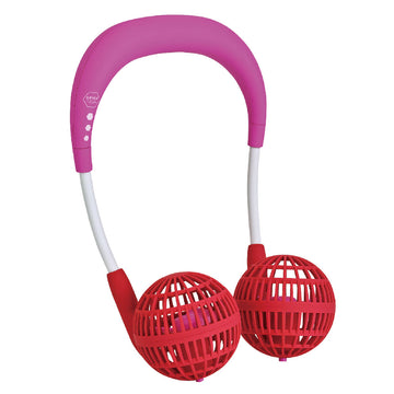 Hands-Free Wireless W Fan for Kids Ages 6 to 12 - Pink