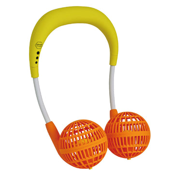 Hands-Free Wireless W Fan for Kids Ages 6 to 12 - Yellow