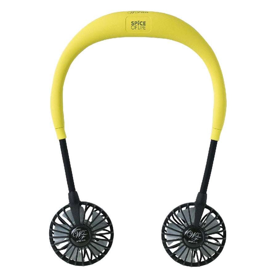 Hands-Free Wireless Neckband W Fan - Yellow