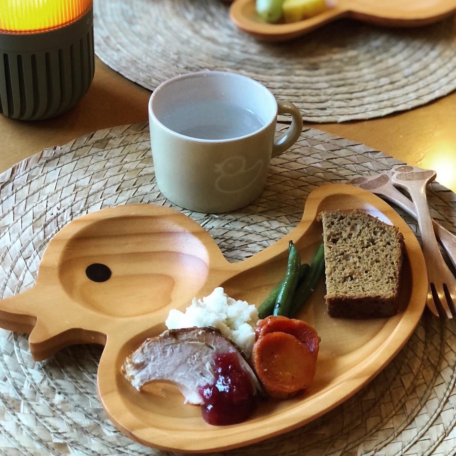 Wooden  Fork and Spoon Set, Duck