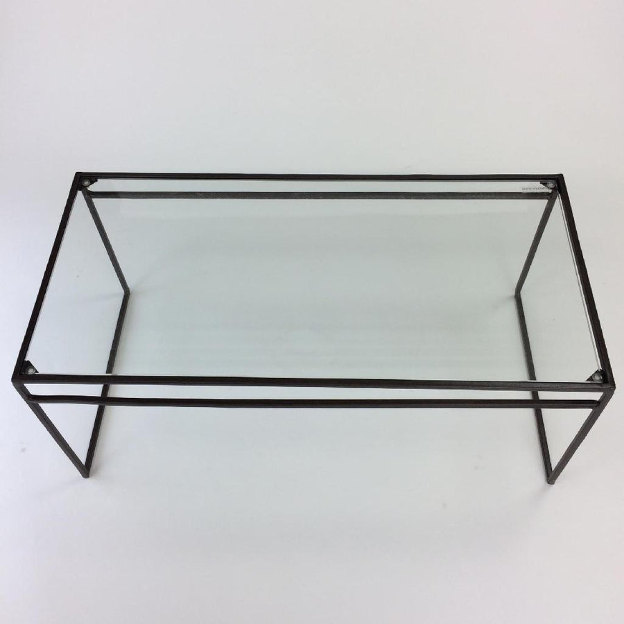 Iron Display Stand with Glass - Rect Large