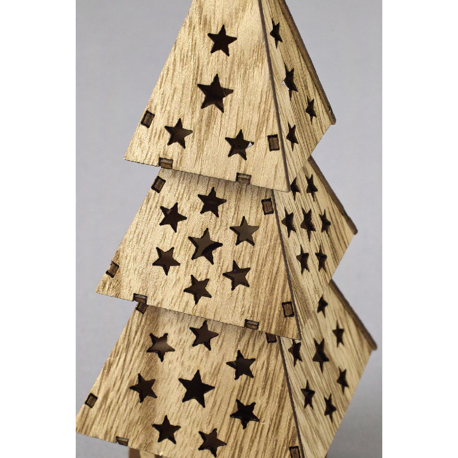 Believe Wooden LED Tree Star