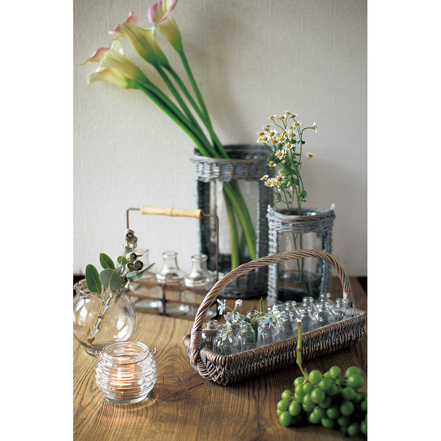 3 Glass Bottle with Iron Holder