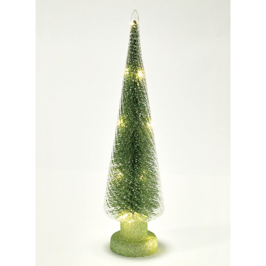 Glitter LED Light Tree Green - Large