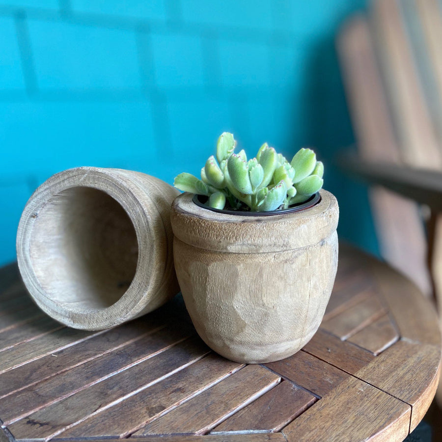 Carving Wood Pot - Small