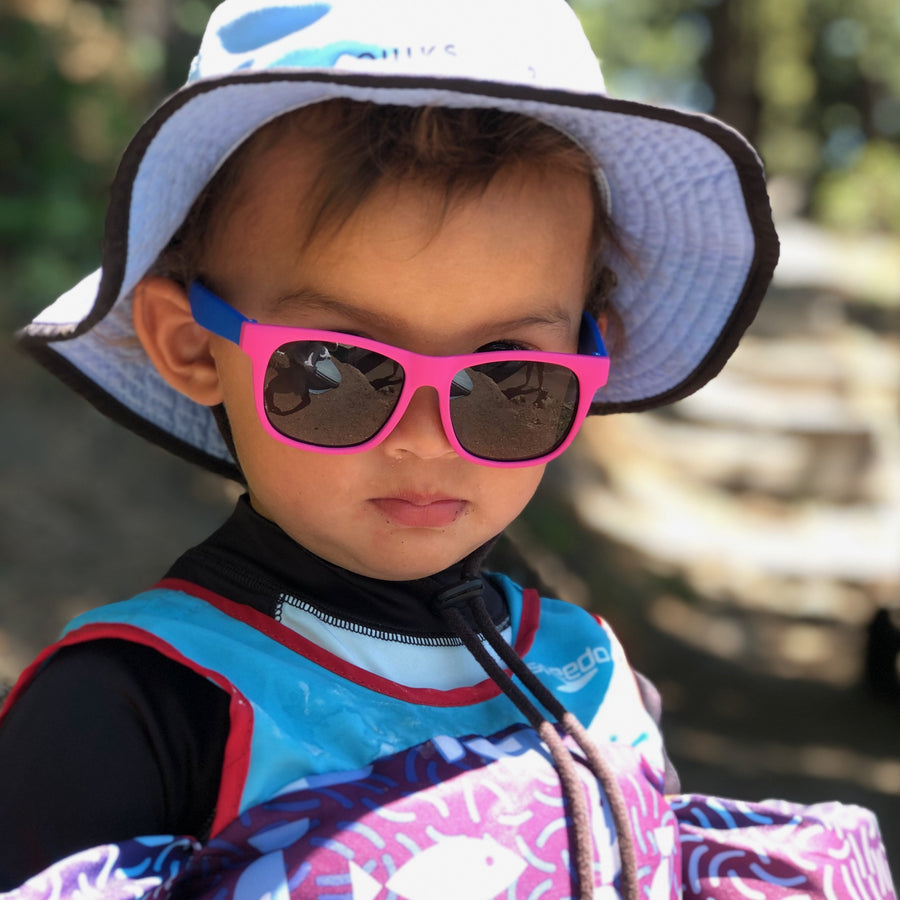 Babies Fashion Sunglasses - Square, Pink/Blue - UV-Protected Summer Eyewear, Infant 0-3 years