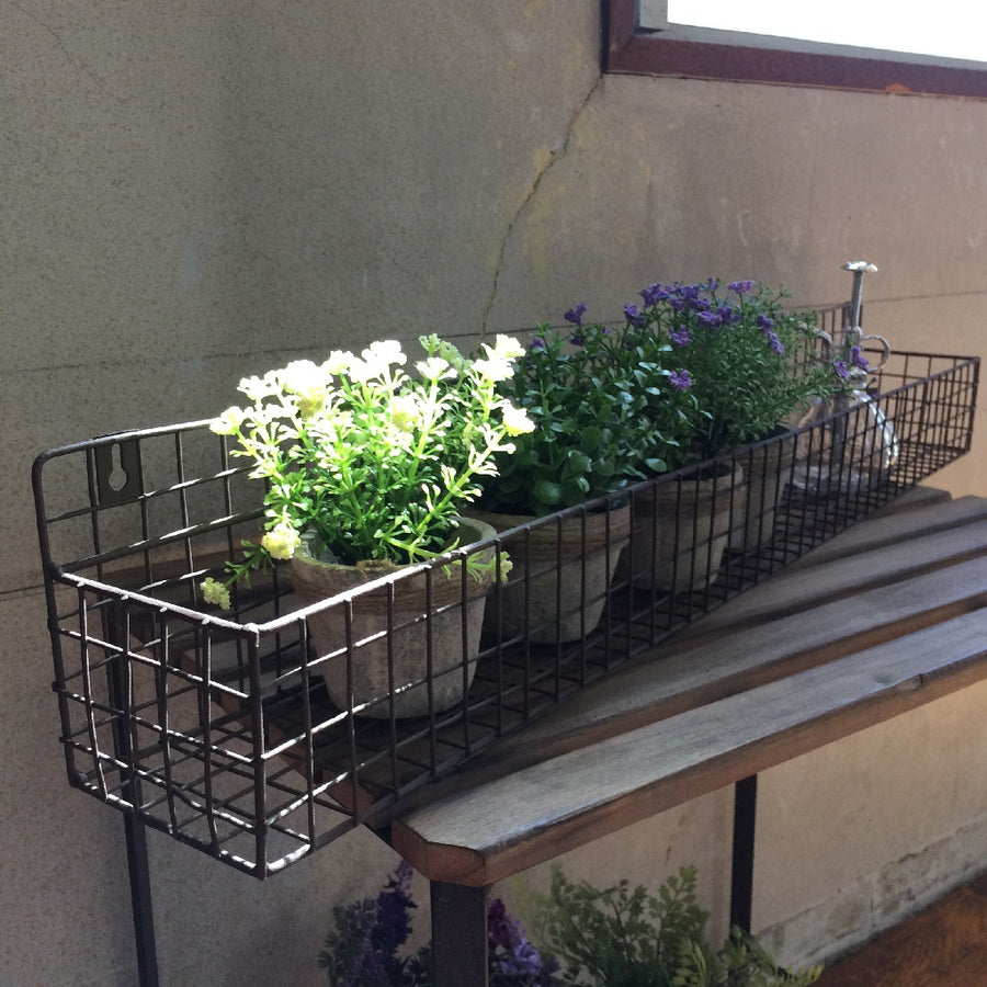 Rustic Window Planter Rack - Large