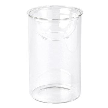 Hydroponic Glass Flower Bulb Vase with Removable Dish - Short