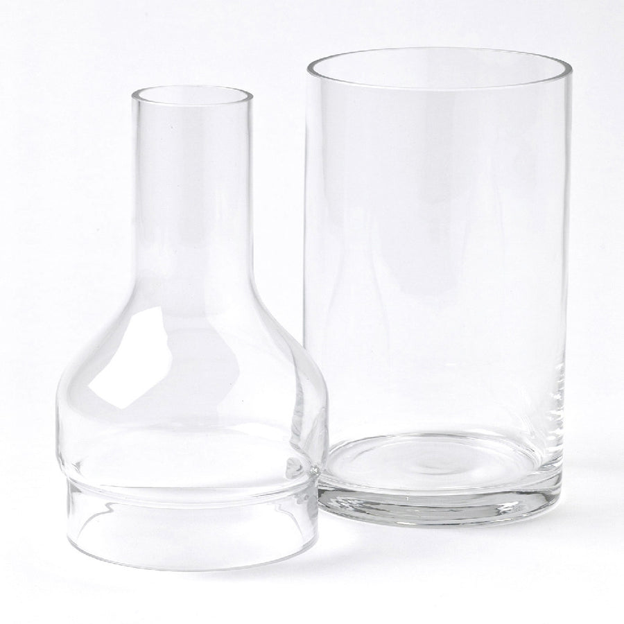 2Way Glass Bottle Flower Base - Large