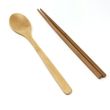 Bamboo Spoon & Chopsticks - Set of 2