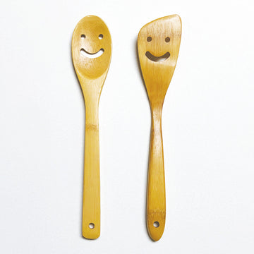 Bamboo Cooking Spatula & Spoon - Set of 2