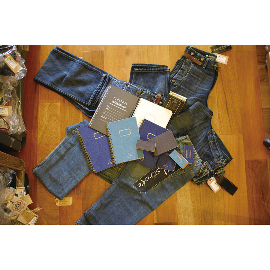 Denim Notebooks B5 - Navy