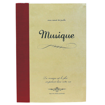 B5 Recycled Paper Notebook - Music (7
