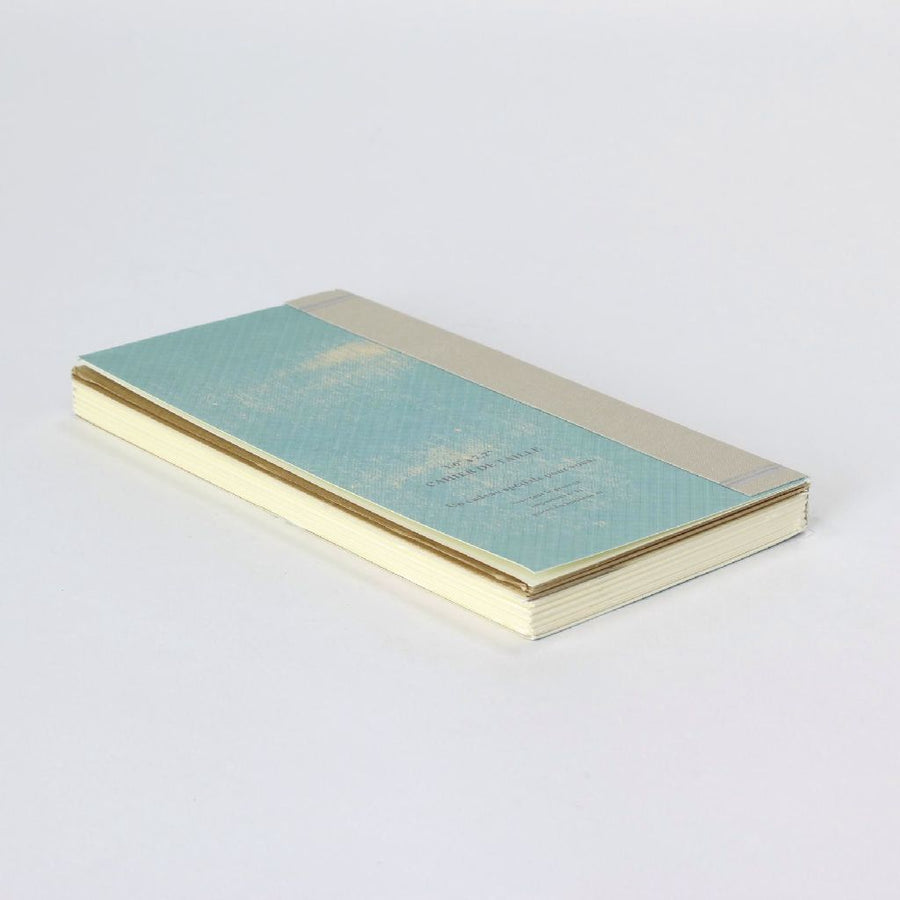 Pocket Size Recycled Paper Notebook Scheduler - Blue