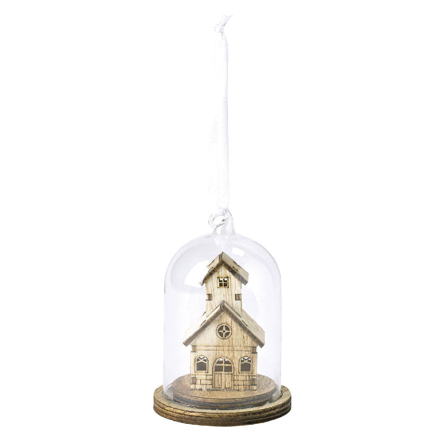 LED Light Dome - Battery-Operated Christmas Holiday Decor - Ornament Church