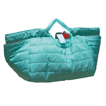 Quilted Shoulder Bag - Turquoise/Coral