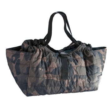 Quilted Shoulder Bag - Camouflage Khaki/Black