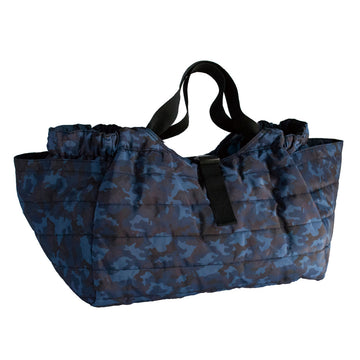 Quilted Shoulder Bag - Camouflage Navy/Navy