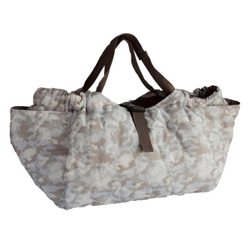 Quilted Shoulder Bag - Camouflage White/Brown