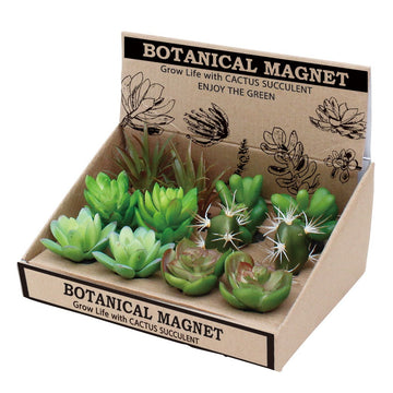 Botanical Magnets - Set of 12 (6 different imitation plants x2pc ea.)