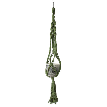 Macrame Plant Pot Hanger - Khaki - Indoor/Outdoor Use (Planter Not Included)