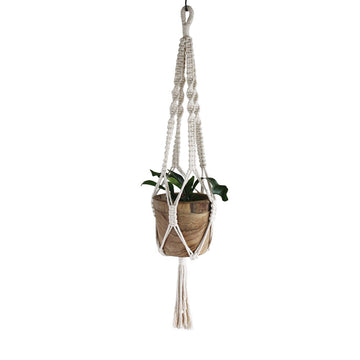 Macrame Plant Pot Hanger - Natural 3 - Indoor/Outdoor Use (Planter Not Included)