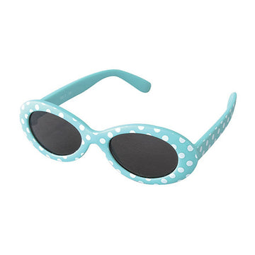 Babies Fashion Sunglasses - Oval, Dot Blue - UV-Protected Summer Eyewear, Infant 0-3 years