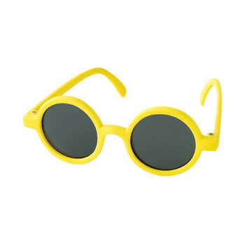 Babies Fashion Sunglasses - Round, Yellow - UV-Protected Summer Eyewear, Infant 0-3 years