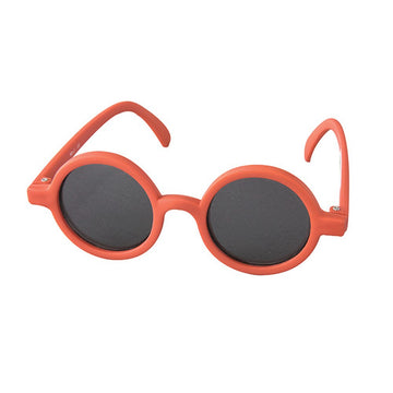 Babies Fashion Sunglasses - Round, Red - UV-Protected Summer Eyewear, Infant 0-3 years