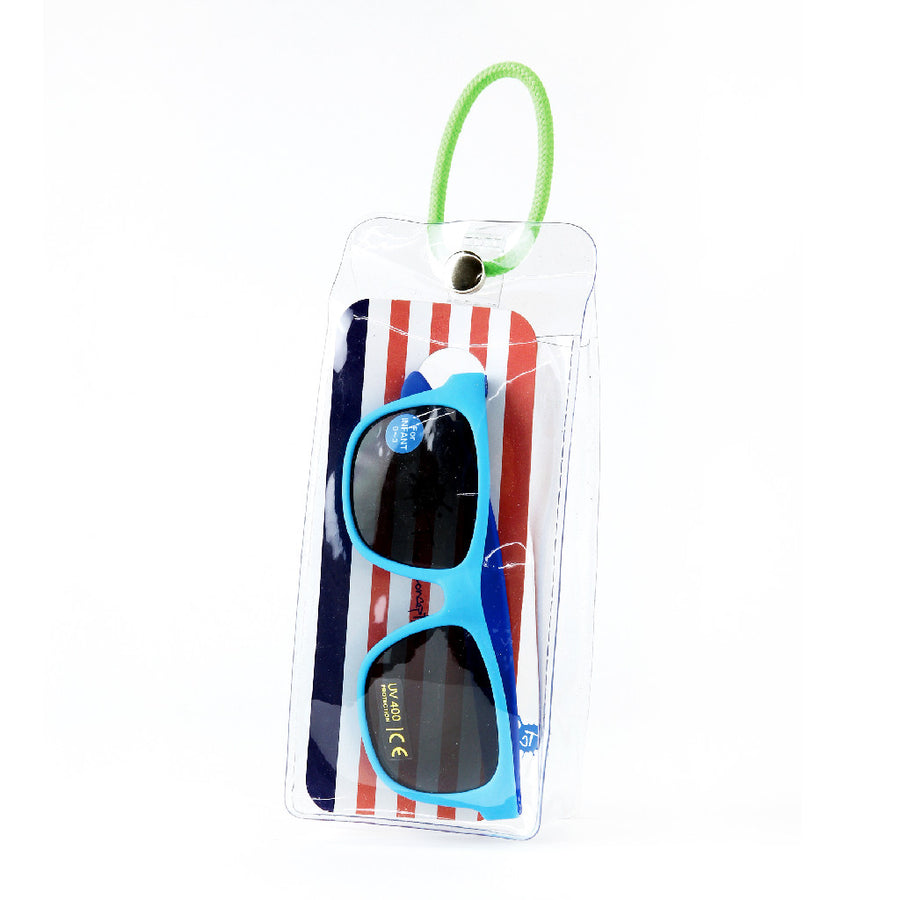 Babies Fashion Sunglasses - Square, Blue - UV-Protected Summer Eyewear, Infant 0-3 years