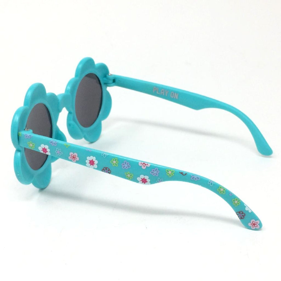 Babies Fashion Sunglasses - Flower, Green - UV-Protected Summer Eyewear, Infant 0-3 years
