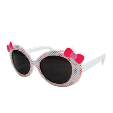 Children/Toddlers Fashion Sunglasses - Ribbon, White - UV-Protected Summer Eyewear, Kids 4-14 Years