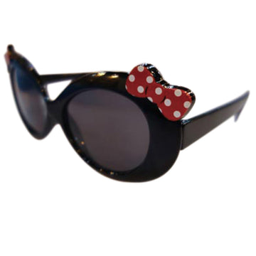 Children/Toddlers Fashion Sunglasses - Ribbon, Black - UV-Protected Summer Eyewear, Kids 4-14 Years