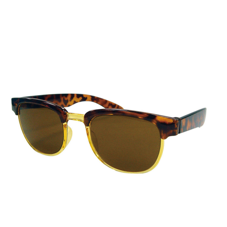 Children/Toddlers Fashion Sunglasses - Half-Rimmed, Brown - UV-Protected Summer Eyewear, Kids 4-14 Years