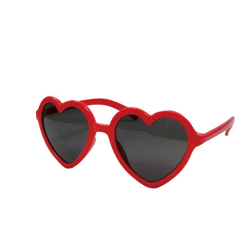 Children/Toddlers Fashion Sunglasses - Heart, Red - UV-Protected Summer Eyewear, Kids 4-14 Years