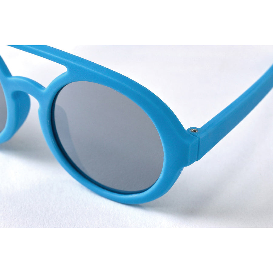 Babies Fashion Sunglasses - Two Bridge Mirror, Blue - UV-Protected Summer Eyewear, Infant 0-3 years