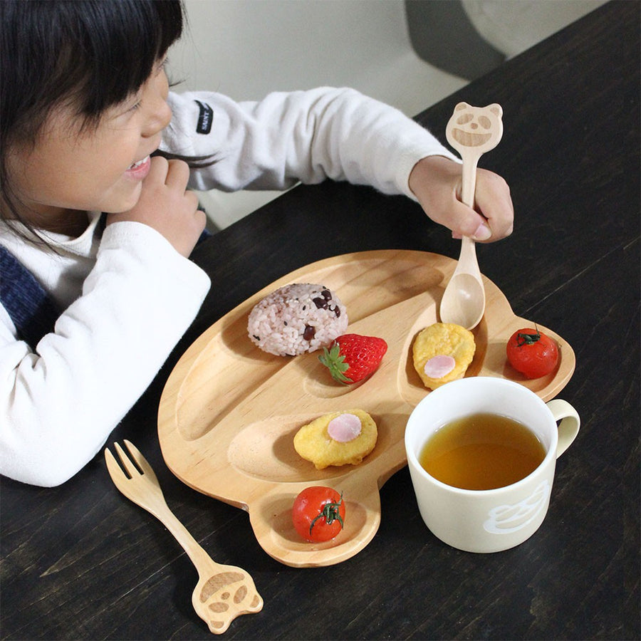 Wooden  Fork and Spoon Set, Car