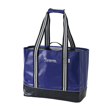 2 In 1 Cooler Tote Bag with Carry-On Container, Multipurpose - Navy