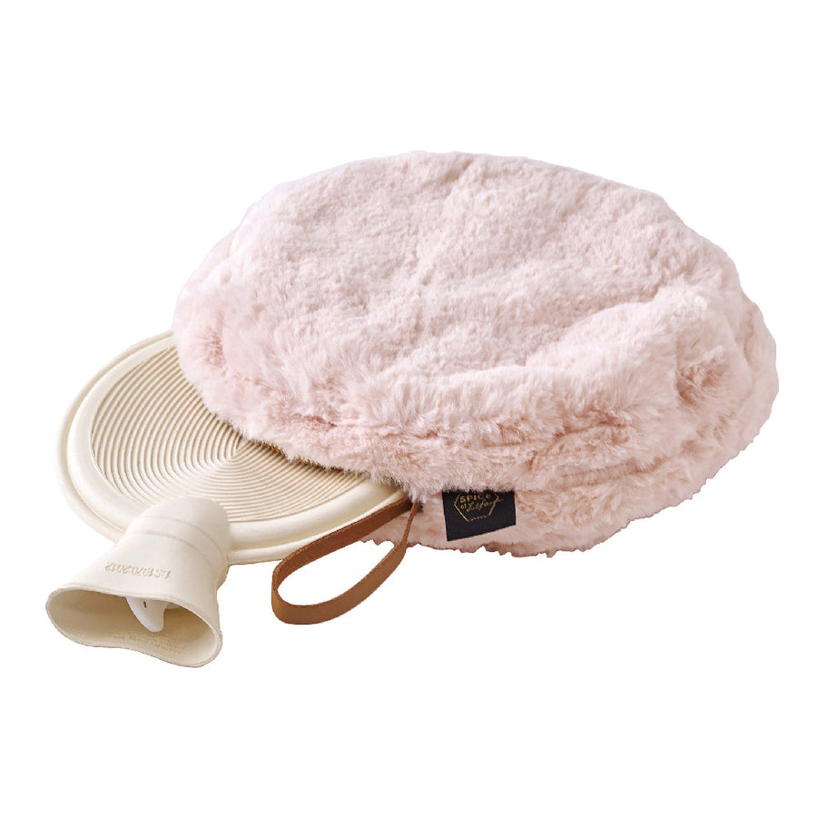 Comfy Cozy Fleece Round w/Water Bottle Pink