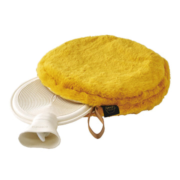Comfy Cozy Fleece Round w/Water Bottle - Yellow