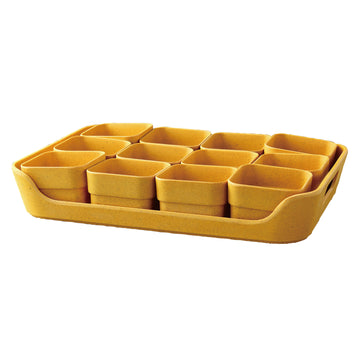 Eco Planter Herb 12 Pots with Tray – Yellow / 2 Sets