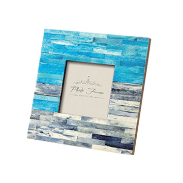 Photo Frame - Ancient Tile, Blue - Square
