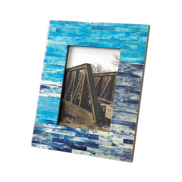 Photo Frame - Ancient Tile, Blue - Rectangle