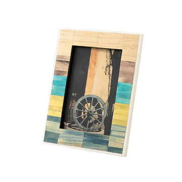 Photo Frame - Ancient Tile, Mixed Color -  Rectangle
