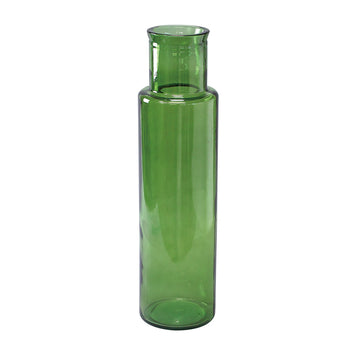 Flower Vase, Tall - Green - 100% Recycled Glass Made in Valencia, Spain