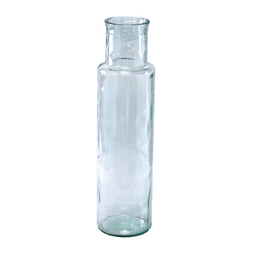 Flower Vase, Tall - Clear - 100% Recycled Glass Made in Valencia, Spain